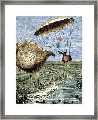 Garnerin's Parachute Framed Print