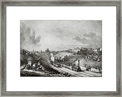 Garnkirk And Glasgow Railway Framed Print by Cci Archives