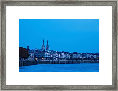Garonne Riverfront At Dawn, Bordeaux Framed Print by Panoramic Images