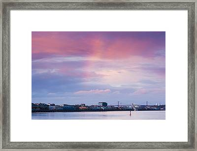 Garonne Riverfront At Dusk, Bordeaux Framed Print by Panoramic Images