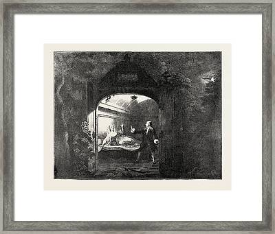 Garrick And Mrs. Bellamy As Romeo And Juliet Framed Print