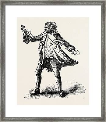 Garrick As King Lear, Shakespeare, English Poet Framed Print