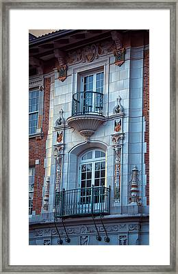 Garrison Hall Window Ut Framed Print