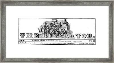 Garrison The Liberator Framed Print by Granger
