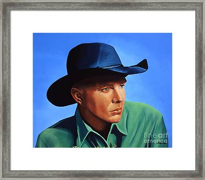 Garth Brooks Framed Print by Paul Meijering