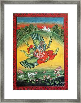 Garuda, The Vahana Of Lord Vishnu Framed Print by Photo Researchers