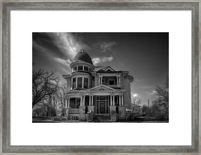 Garvey Veihl House Bw Framed Print
