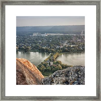 Framed Print featuring the photograph Garvin Heights View by Kari Yearous