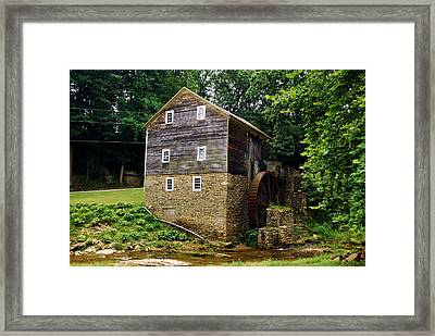 Framed Print featuring the photograph Garvines Grist Mill by Bob Sample