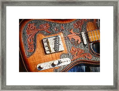 Gary Allan's Guitar Framed Print by Don Olea