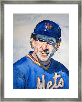 Gary Carter Framed Print by Brian Degnon