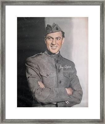 Gary Cooper Repro Framed Print by Barbara McDevitt