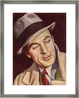 Gary Cooper Framed Print