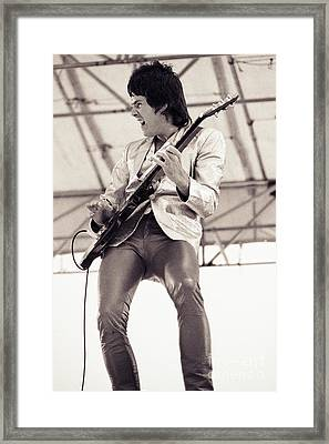 Gary Moore Of Thin Lizzy Black Rose Tour At Day On The Green 4th Of July 1979 - Unreleased   Framed Print by Daniel Larsen