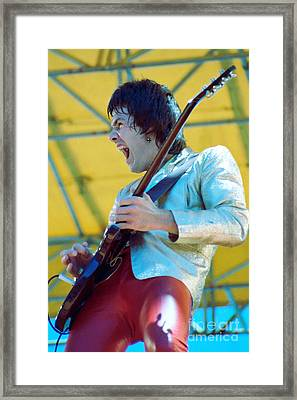 Gary Moore Of Thin Lizzy - Day On The Green 7-4-79 Personal Color Photo Framed Print by Daniel Larsen