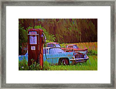 Gas And Go Framed Print by Bill Cannon