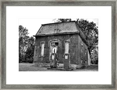 Gas At 41 Cents A Gallon Bw Framed Print