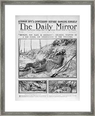 Gas Attack Framed Print by British Library