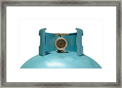 Gas Cylinder Valve Closeup Framed Print