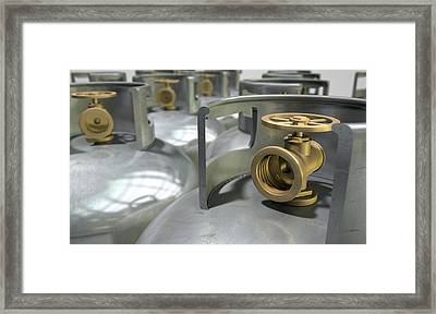 Gas Cylinders Collection Framed Print
