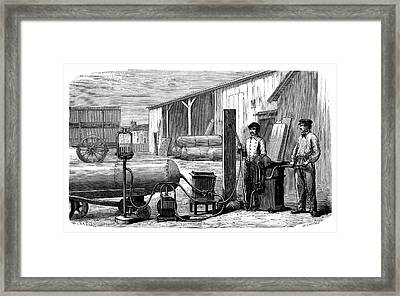 Gas Cylinders Framed Print by Science Photo Library