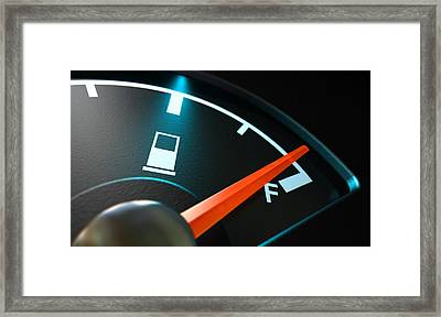 Gas Gage Illuminated Full Framed Print by Allan Swart