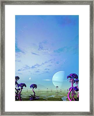 Gas Giant Planet 55 Cancri F Framed Print by Mark Garlick