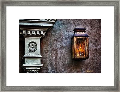 Gas Lantern Framed Print by Renee Sullivan