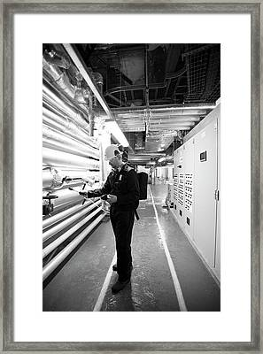 Gas Leak Monitoring Framed Print