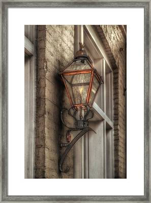 Gas Light Of New Orleans Framed Print
