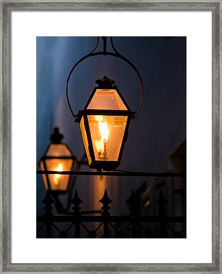 Gas Lights Framed Print