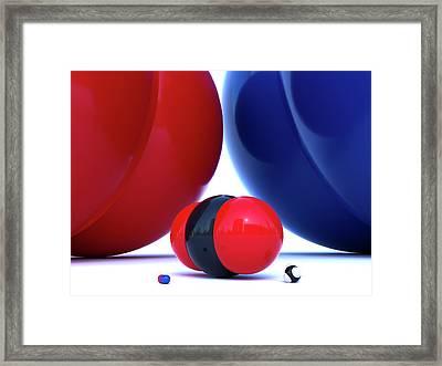 Gas Molecules Framed Print