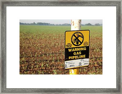 Gas Pipeline Marker Framed Print