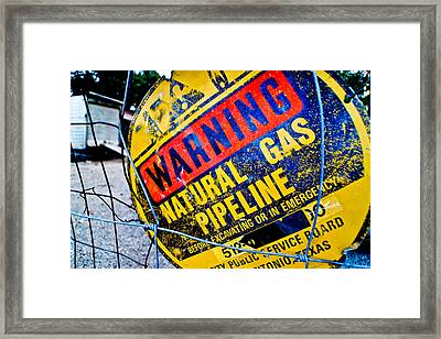 Gas Pipeline Framed Print