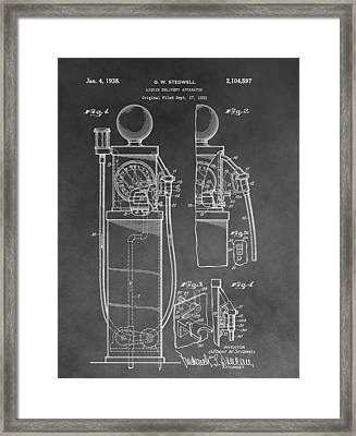 Gas Pump Patent Framed Print by Dan Sproul