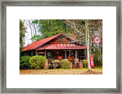 Framed Print featuring the photograph Gas Station 1 by Dawn Eshelman