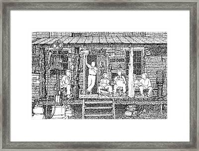 Gas Station Framed Print by Pablo Franchi