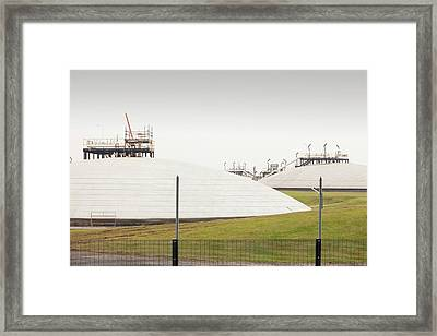 Gas Storage Depot In Barrow In Furness Framed Print