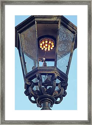 Gas Street Lighting Framed Print
