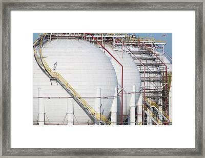 Gas Tank Framed Print by Anek Suwannaphoom