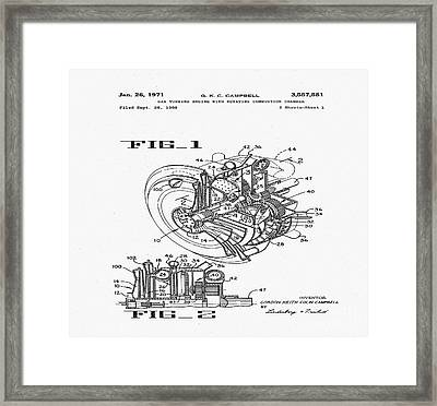 Gas Turbine Engine With Rotating Combustion Chamber Framed Print
