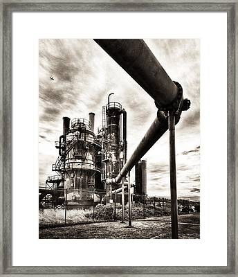 Gas Works Framed Print