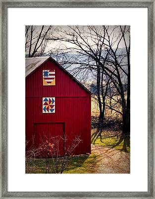 Gasconade Double Quilt Barn Framed Print