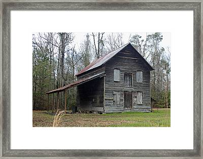 Gaskins Family Tenant House - Gallivants Ferry II Framed Print by Suzanne Gaff