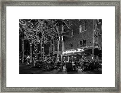 Gaslamp Evening Framed Print