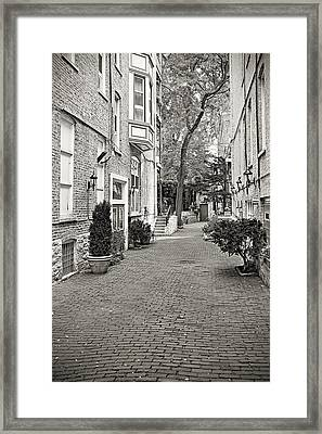 Gaslight Court Chicago Old Town Framed Print by Christine Till
