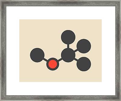 Gasoline Additive Molecule Framed Print by Molekuul