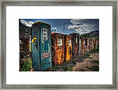 Framed Print featuring the photograph Gasoline Alley by Ken Smith