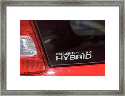 Gasoline-electric Hybrid Car Framed Print