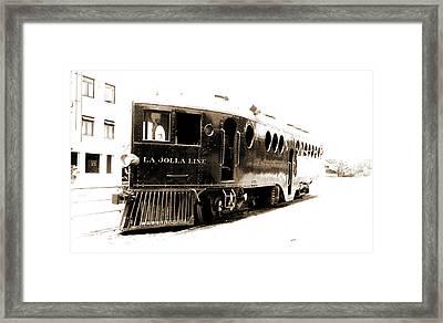Gasoline Motor Car Running From San Diego, La Hoya Sic Framed Print